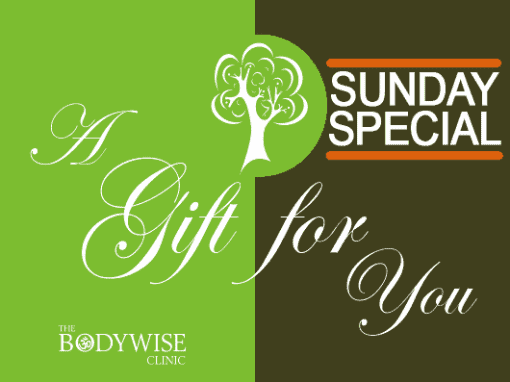 bodywise clinic gift vouchers sunday special