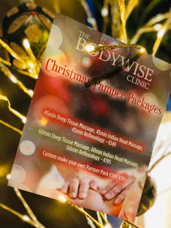 the bodywise clinic christmas pamper vouchers