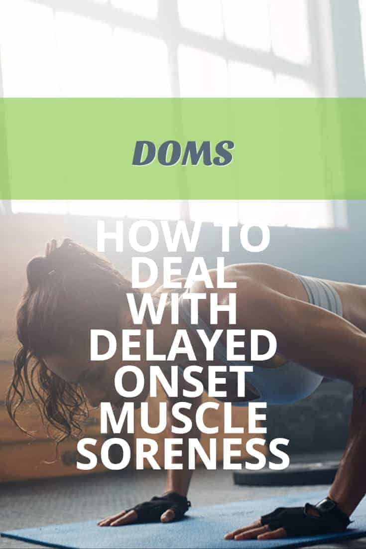 DOMS delayed onset muscle soreness pinterest