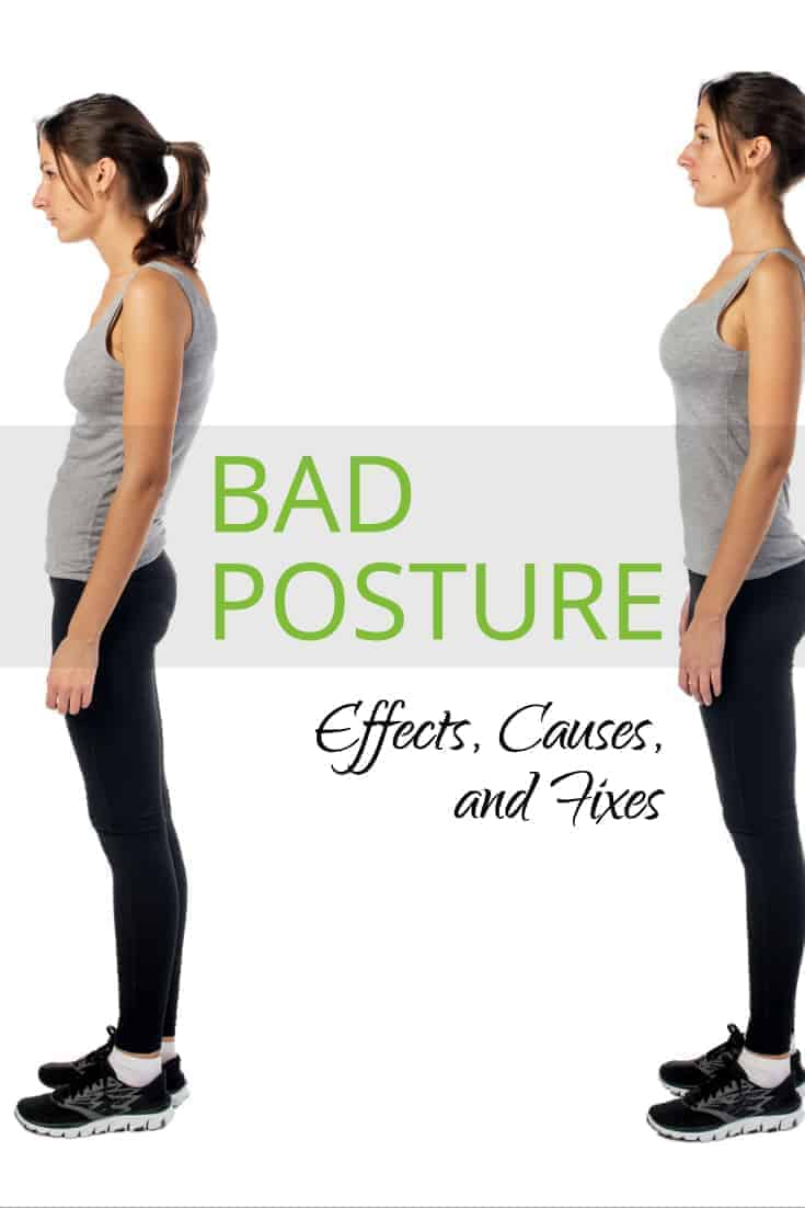 bad posture causes effects and fixes pinterest