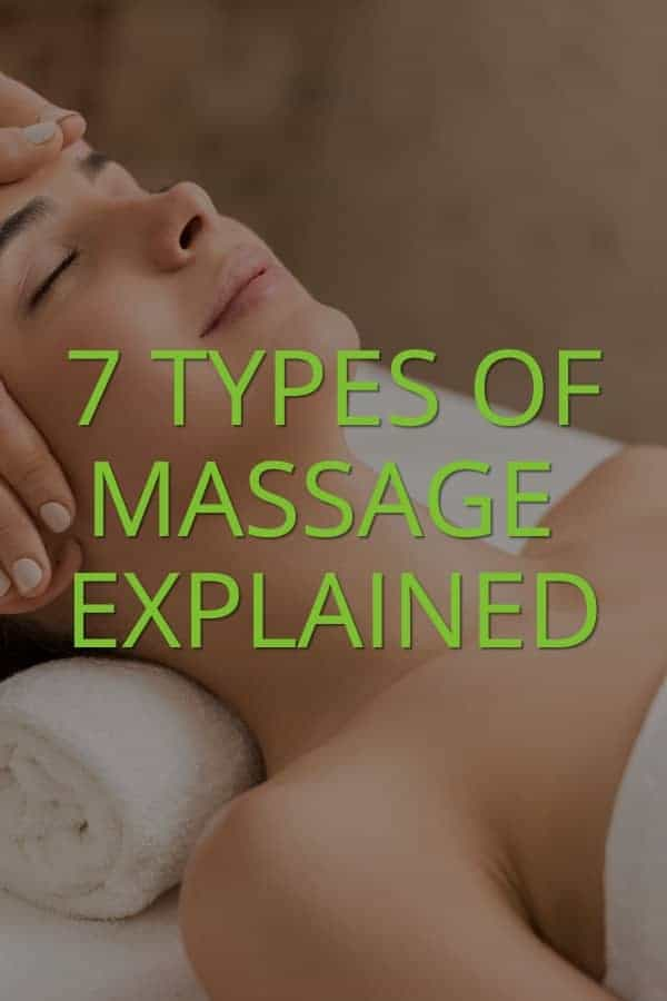 types of massage explained